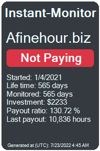 afinehour.biz Monitored by Instant-Monitor.com
