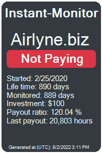 airlyne.biz Monitored by Instant-Monitor.com