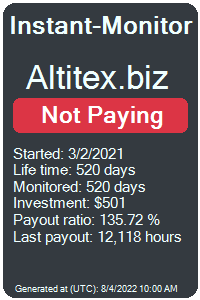 altitex.biz Monitored by Instant-Monitor.com