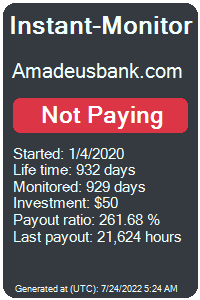 amadeusbank.com Monitored by Instant-Monitor.com