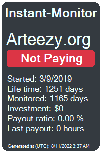 arteezy.org Monitored by Instant-Monitor.com