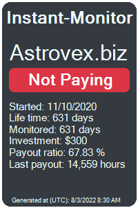 astrovex.biz Monitored by Instant-Monitor.com