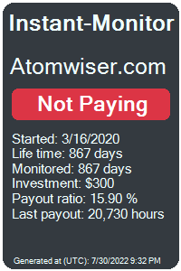atomwiser.com Monitored by Instant-Monitor.com