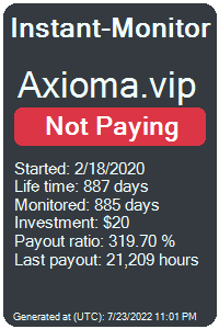 axioma.vip Monitored by Instant-Monitor.com