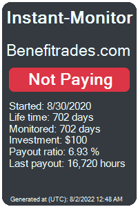 benefitrades.com Monitored by Instant-Monitor.com