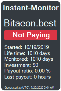 bitaeon.best Monitored by Instant-Monitor.com