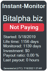 bitalpha.biz Monitored by Instant-Monitor.com