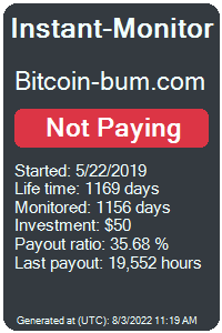 bitcoin-bum.com Monitored by Instant-Monitor.com