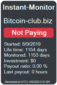 bitcoin-club.biz Monitored by Instant-Monitor.com