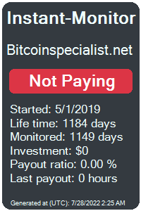 bitcoinspecialist.net Monitored by Instant-Monitor.com