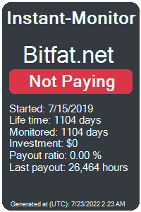 bitfat.net Monitored by Instant-Monitor.com