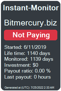 bitmercury.biz Monitored by Instant-Monitor.com