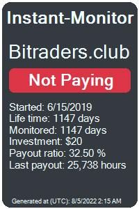 bitraders.club Monitored by Instant-Monitor.com