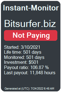 bitsurfer.biz Monitored by Instant-Monitor.com
