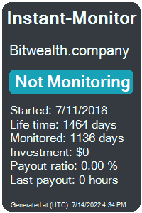 bitwealth.company Monitored by Instant-Monitor.com