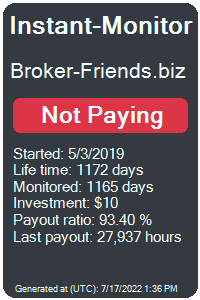 broker-friends.biz Monitored by Instant-Monitor.com
