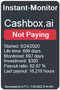 cashbox.ai Monitored by Instant-Monitor.com