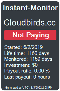 cloudbirds.cc Monitored by Instant-Monitor.com