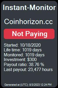 https://instant-monitor.com/Projects/Details/coinhorizon.cc