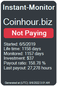 coinhour.biz Monitored by Instant-Monitor.com
