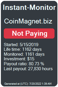 coinmagnet.biz Monitored by Instant-Monitor.com