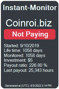 coinroi.biz Monitored by Instant-Monitor.com