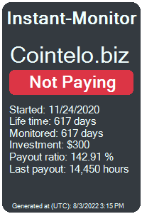 cointelo.biz Monitored by Instant-Monitor.com