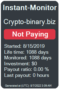crypto-binary.biz Monitored by Instant-Monitor.com
