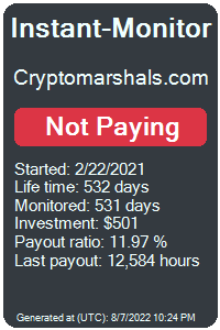 cryptomarshals.com Monitored by Instant-Monitor.com