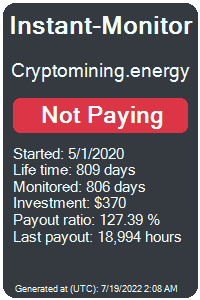 cryptomining.energy Monitored by Instant-Monitor.com