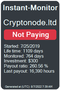 cryptonode.ltd Monitored by Instant-Monitor.com