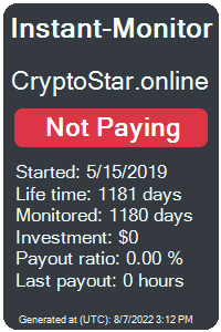 cryptostar.online Monitored by Instant-Monitor.com