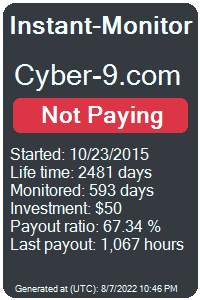 cyber-9.com Monitored by Instant-Monitor.com