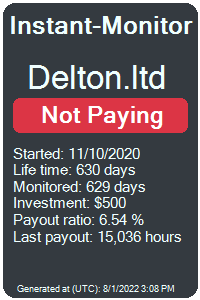 delton.ltd Monitored by Instant-Monitor.com