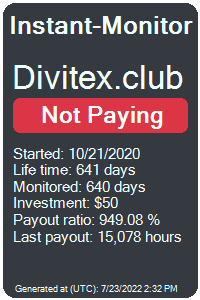 divitex.club Monitored by Instant-Monitor.com