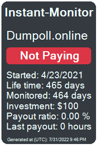 dumpoll.online Monitored by Instant-Monitor.com