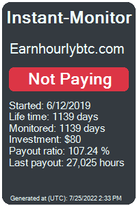 earnhourlybtc.com Monitored by Instant-Monitor.com