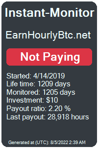 earnhourlybtc.net Monitored by Instant-Monitor.com