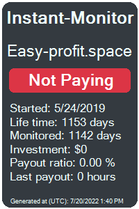 easy-profit.space Monitored by Instant-Monitor.com