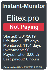 elitex.pro Monitored by Instant-Monitor.com