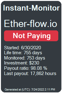 ether-flow.io Monitored by Instant-Monitor.com