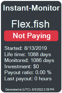 flex.fish Monitored by Instant-Monitor.com