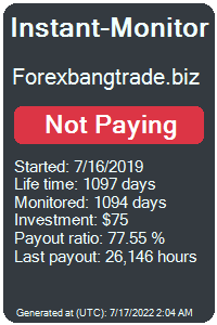 forexbangtrade.biz Monitored by Instant-Monitor.com