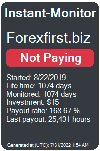 forexfirst.biz Monitored by Instant-Monitor.com