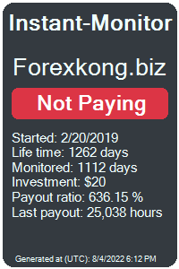 forexkong.biz Monitored by Instant-Monitor.com