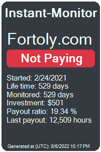 fortoly.com Monitored by Instant-Monitor.com