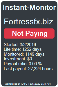 fortressfx.biz Monitored by Instant-Monitor.com