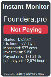 foundera.pro Monitored by Instant-Monitor.com