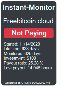 freebitcoin.cloud Monitored by Instant-Monitor.com