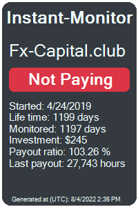 fx-capital.club Monitored by Instant-Monitor.com